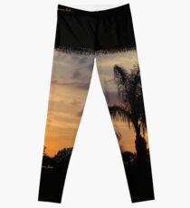 Fast Moving Clouds at Sunset Leggings