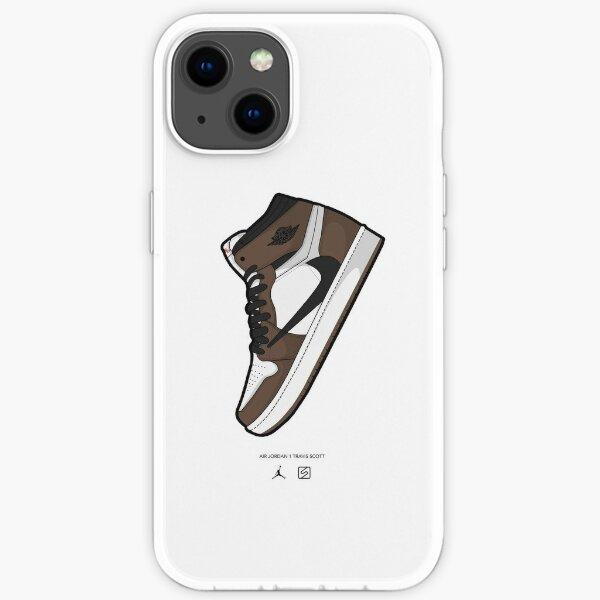 Jordan 1 Travis Scott Vector Funda blanda para iPhone