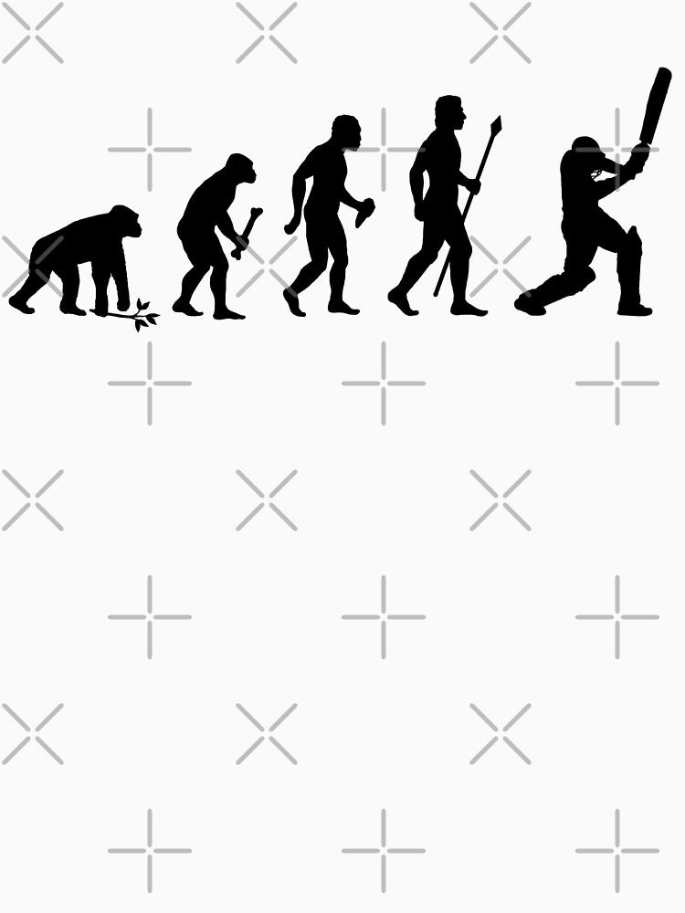 TShirtGifter presents: Evolution Of Man and Cricket | Unisex T-Shirt
