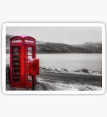 Old Red British Telephone Kiosk Sticker