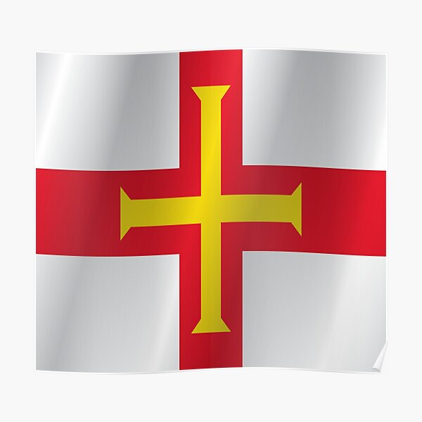 Guernsey flag Poster