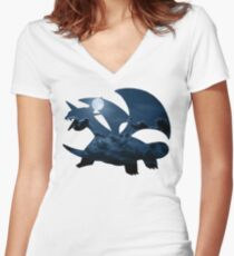 Salamence used Dragon Tail Women's Fitted V-Neck T-Shirt