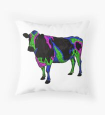 Mad cow disease. Throw Pillow