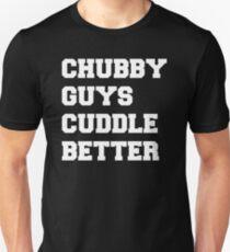 Chubby Guys Cuddle Better - White/Freshman Slim Fit T-Shirt