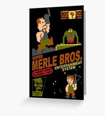 Super Merle Brothers Greeting Card