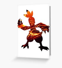 Combusken used Fire Spin Greeting Card