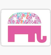 Republican Elephant with Lilly Pulitzer print Sticker