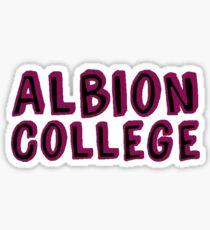 Albion College Sticker