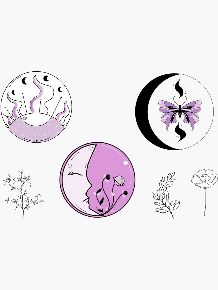 celestial sticker sheet by artbylenashop