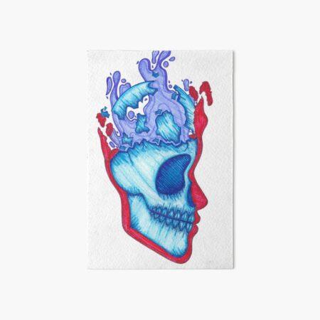Comic skull  Art Board Print