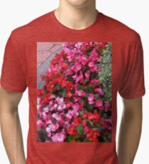 A Multitude of Begonias Tri-blend T-Shirt
