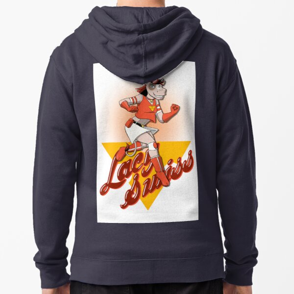 Lacy Swiss of The Bovine League Zipped Hoodie