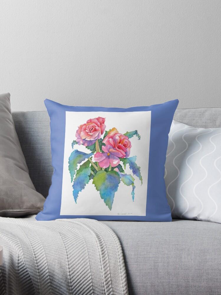 Medium Blue Throw Pillows :