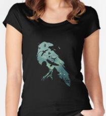 Murder of Crows Women's Fitted Scoop T-Shirt