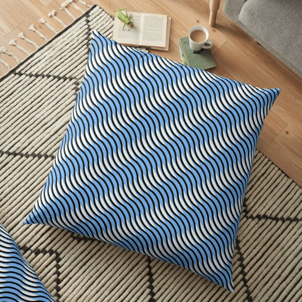Wavy line pattern Floor Pillow