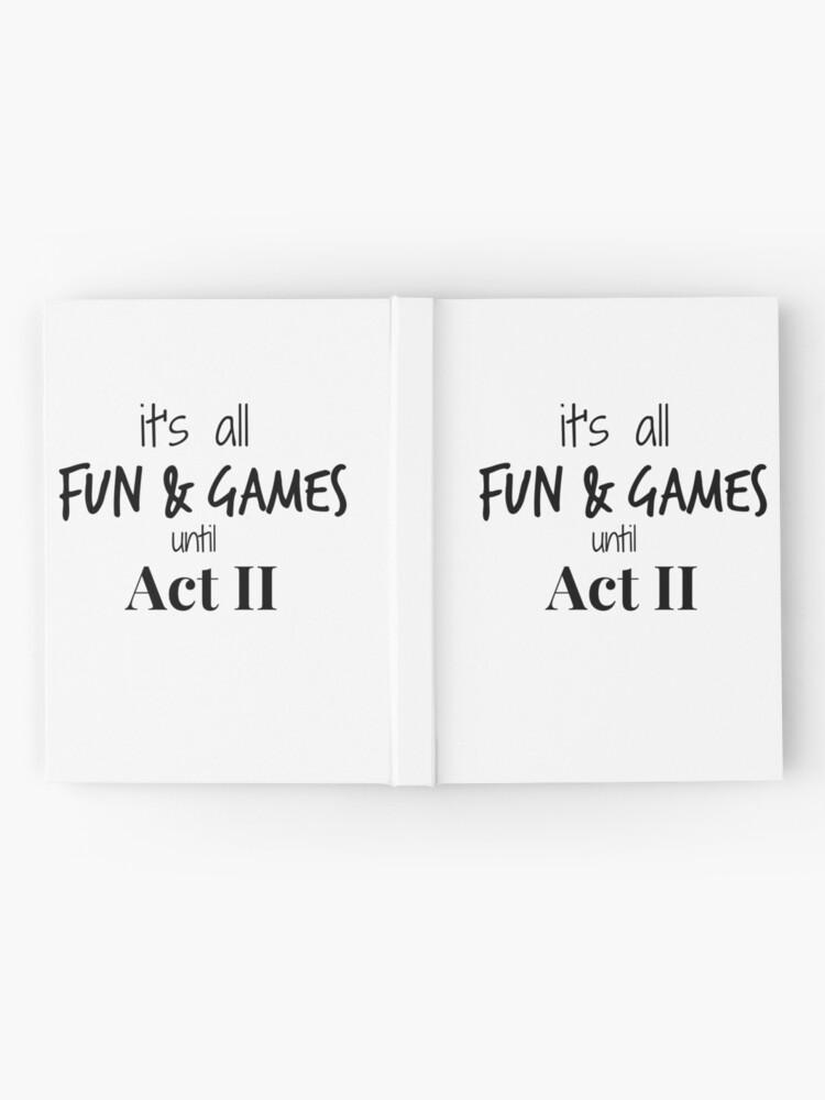Alternative Ansicht von Akt 2 wird Real Notizbuch