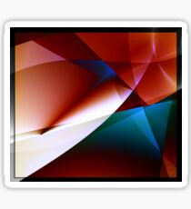 Angles abstract geometric fractal art Sticker