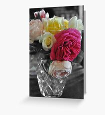 Autumn Roses Greeting Card