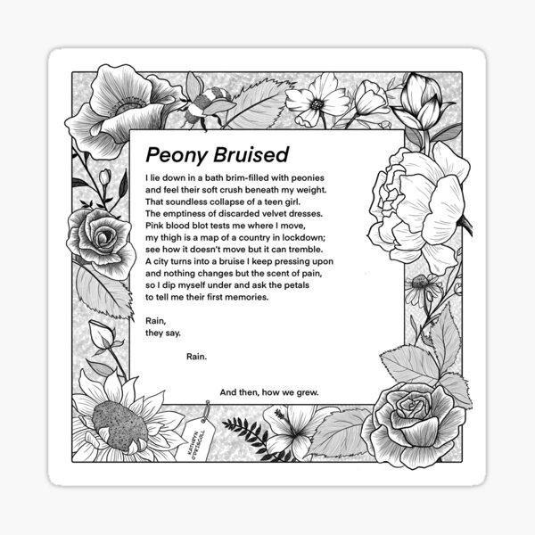 Peony Bruised by Kathryn O'Driscroll Sticker
