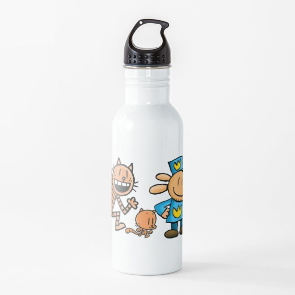 The whole gang Dog man, Petey and Lil' Petey Water Bottle