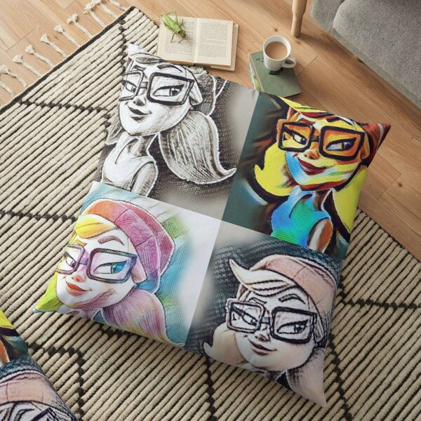 Subway Surfers Tricky Collage Floor Pillow