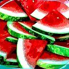 Watermelon Art by Heather Friedman