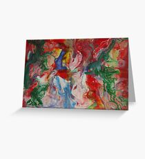Abstract Modern Contemporary Fine Art Greeting Card