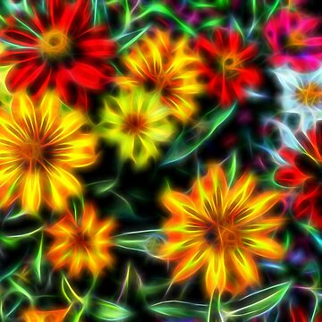 Zinnia photo art by NEKphotoart