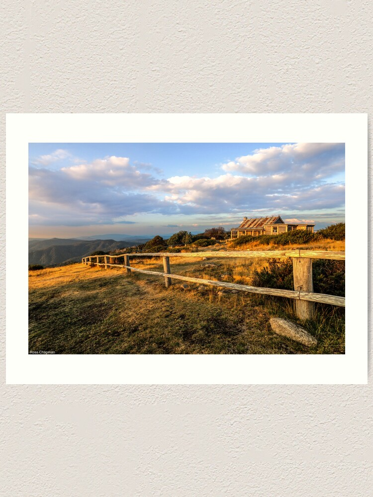 Alternate view of Craig's Hut, Mt Stirling. Art Print