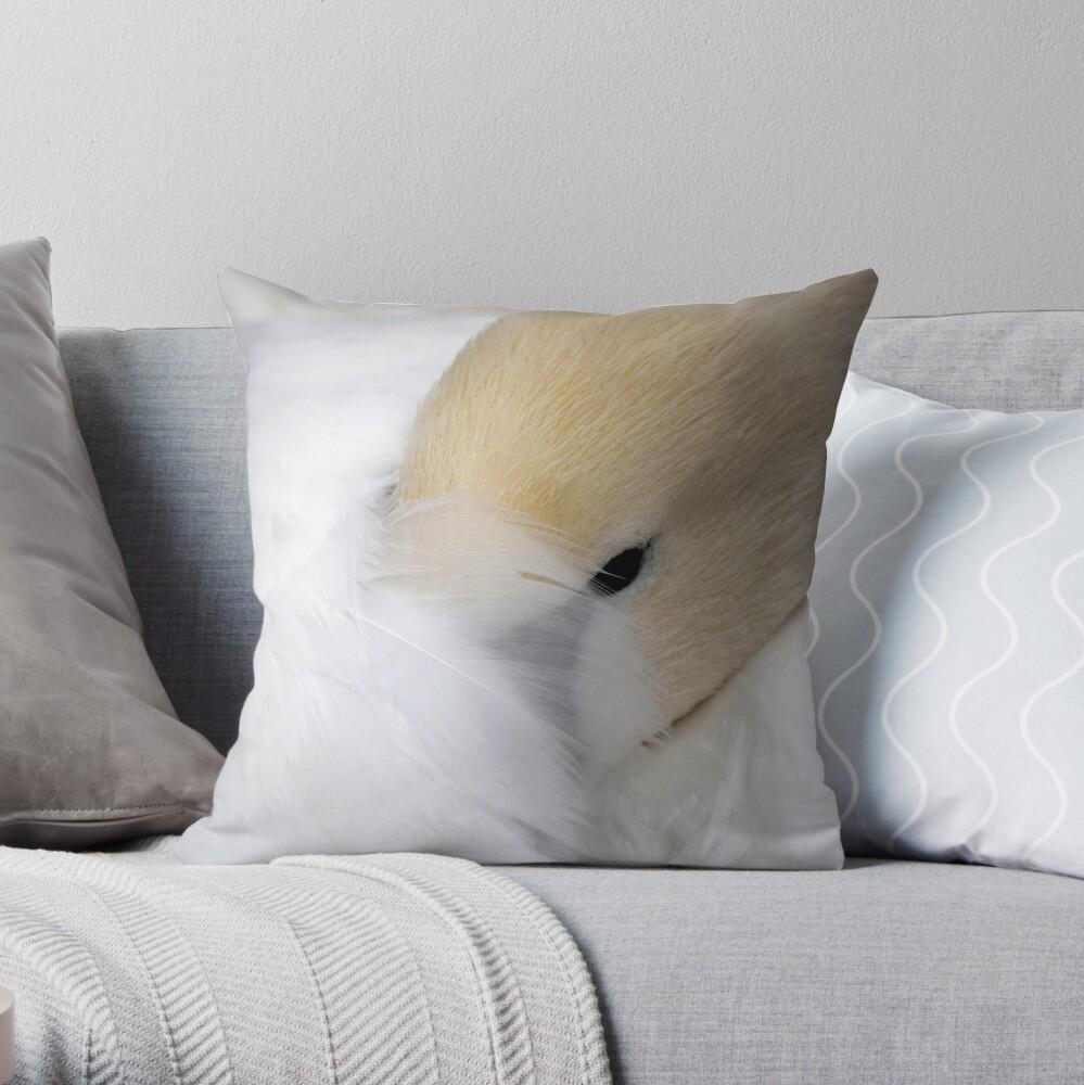 Shy Swan Throw Pillow
