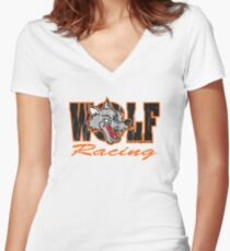 Wolf Racing Motorcycles Women's Fitted V-Neck T-Shirt