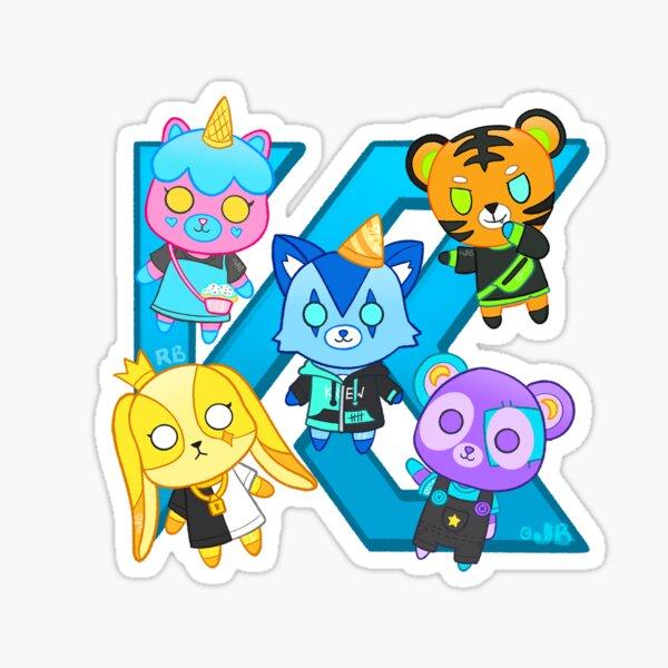 Peluches sur un K Sticker