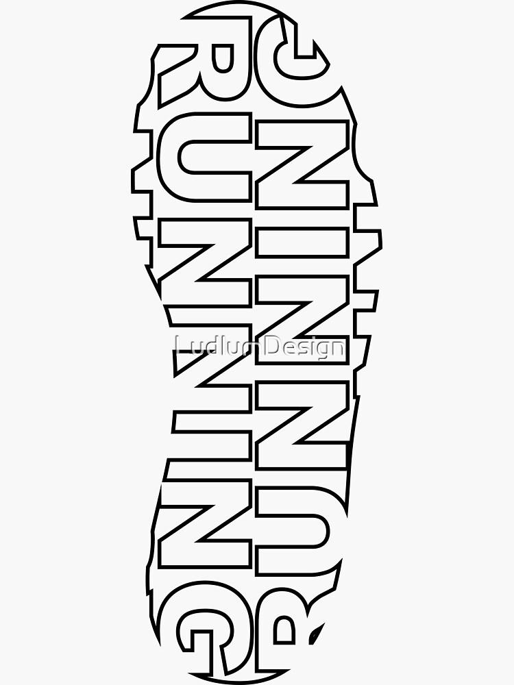 Running Shoe Print by LudlumDesign