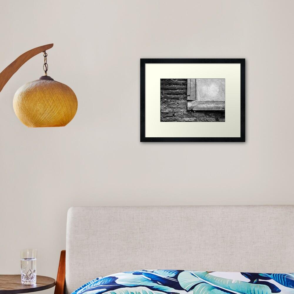 Marble & Brick Framed Art Print