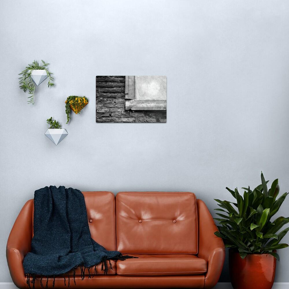 Marble & Brick Metal Print