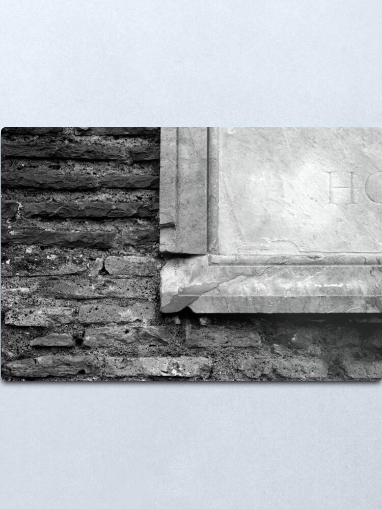 Alternate view of Marble & Brick Metal Print