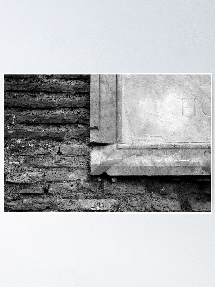 Alternate view of Marble & Brick Poster
