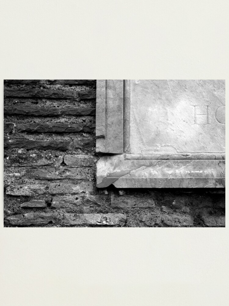 Alternate view of Marble & Brick Photographic Print