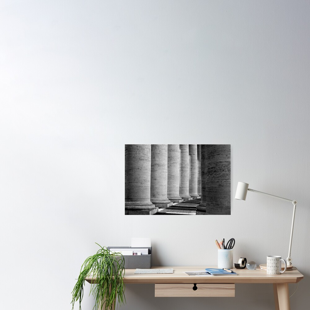 Columns of St Peter's Poster
