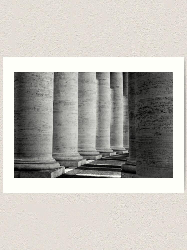 Alternate view of Columns of St Peter's Art Print