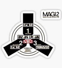 Evangelion magi symbol Sticker