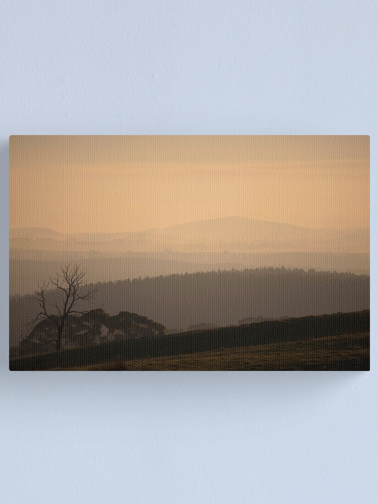 Alternate view of Smokey Town, Creswick Canvas Print