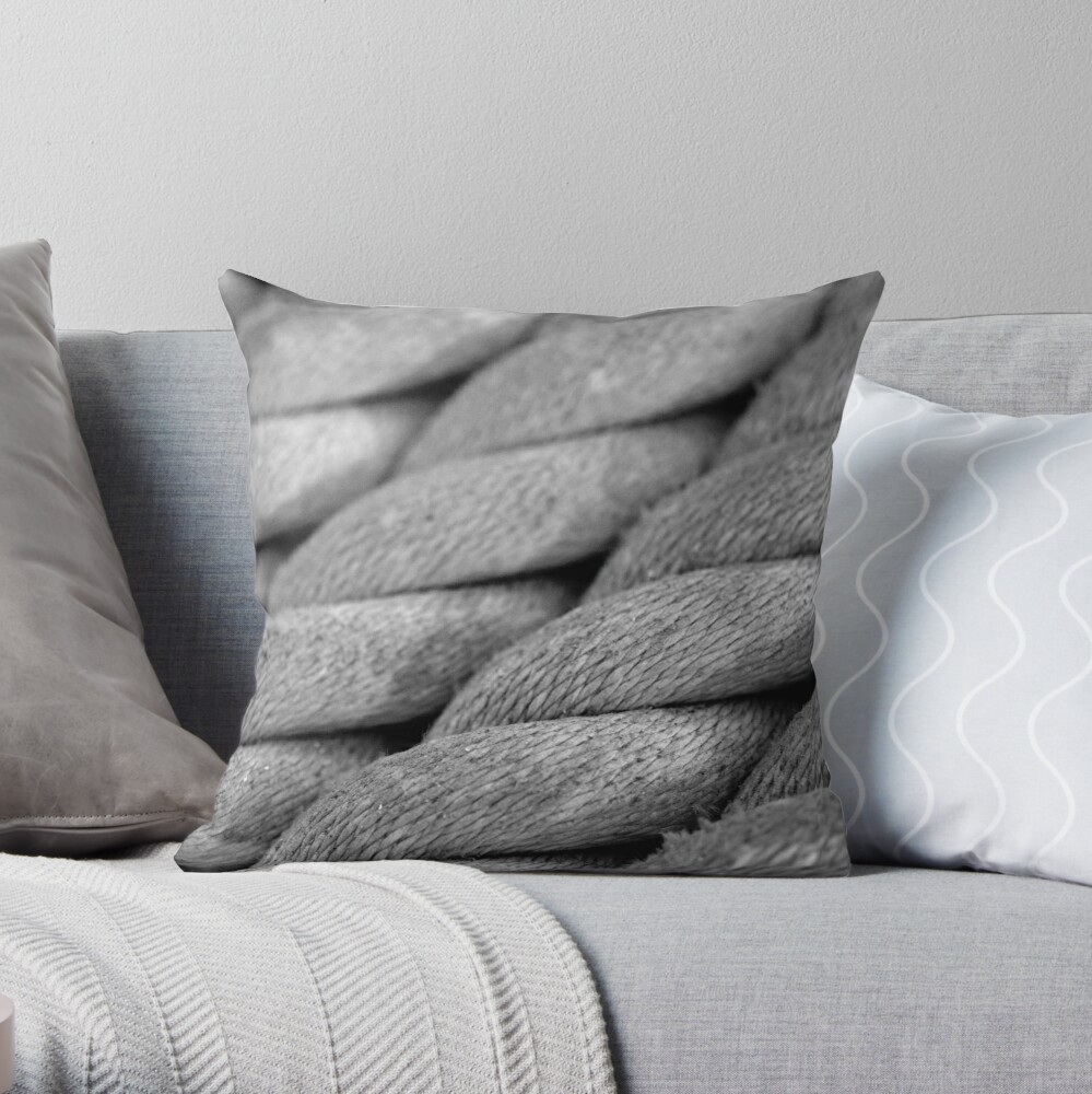 Neatly Twisted Throw Pillow