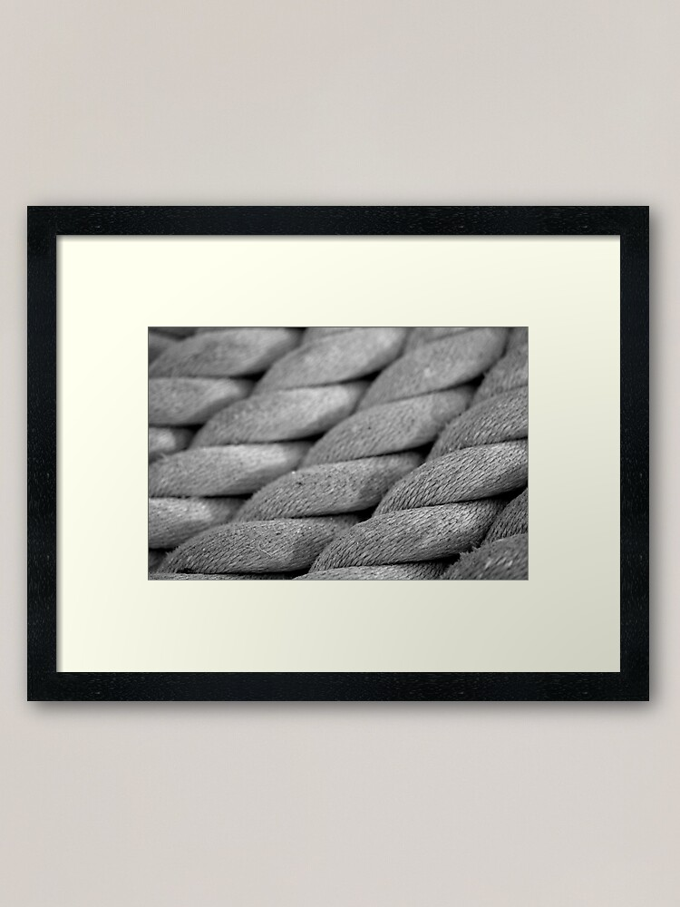 Alternate view of Neatly Twisted Framed Art Print