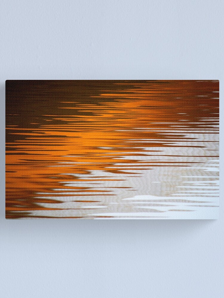 Alternate view of Orange Water Canvas Print