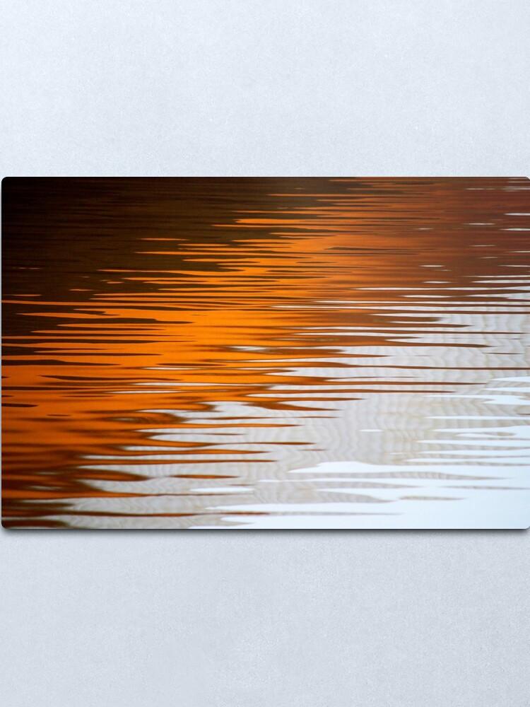 Alternate view of Orange Water Metal Print