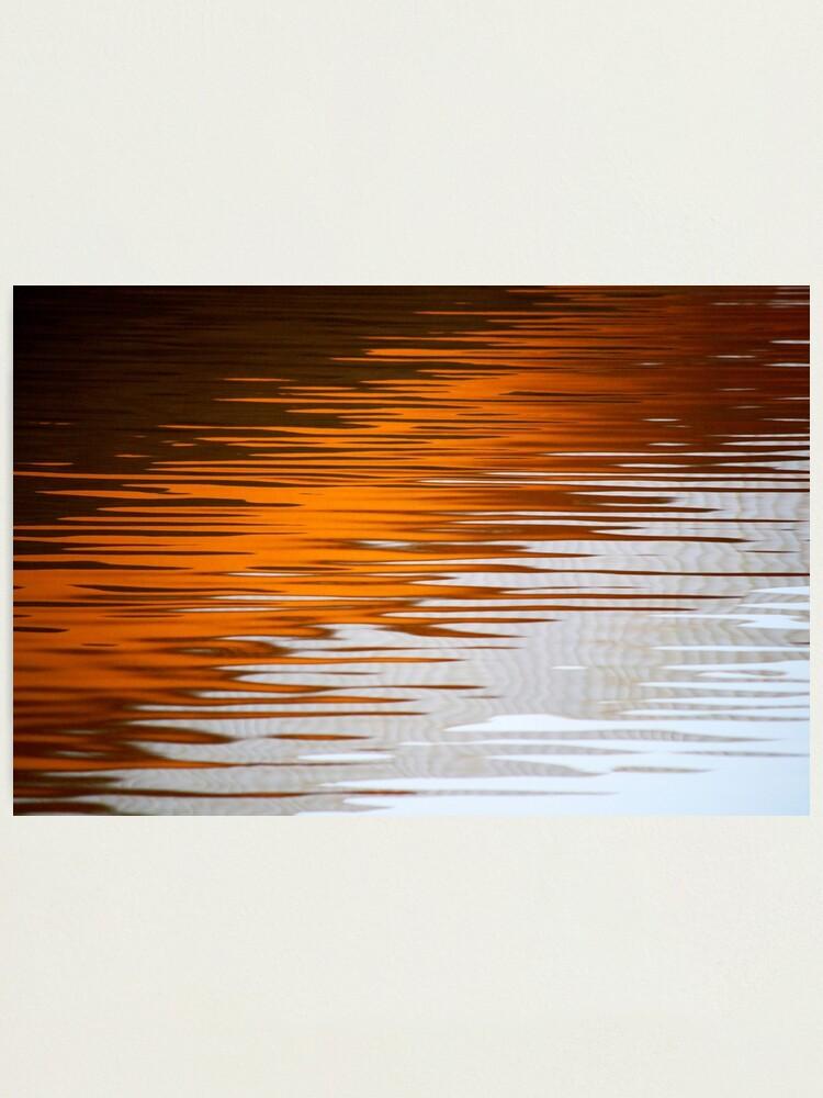 Alternate view of Orange Water Photographic Print