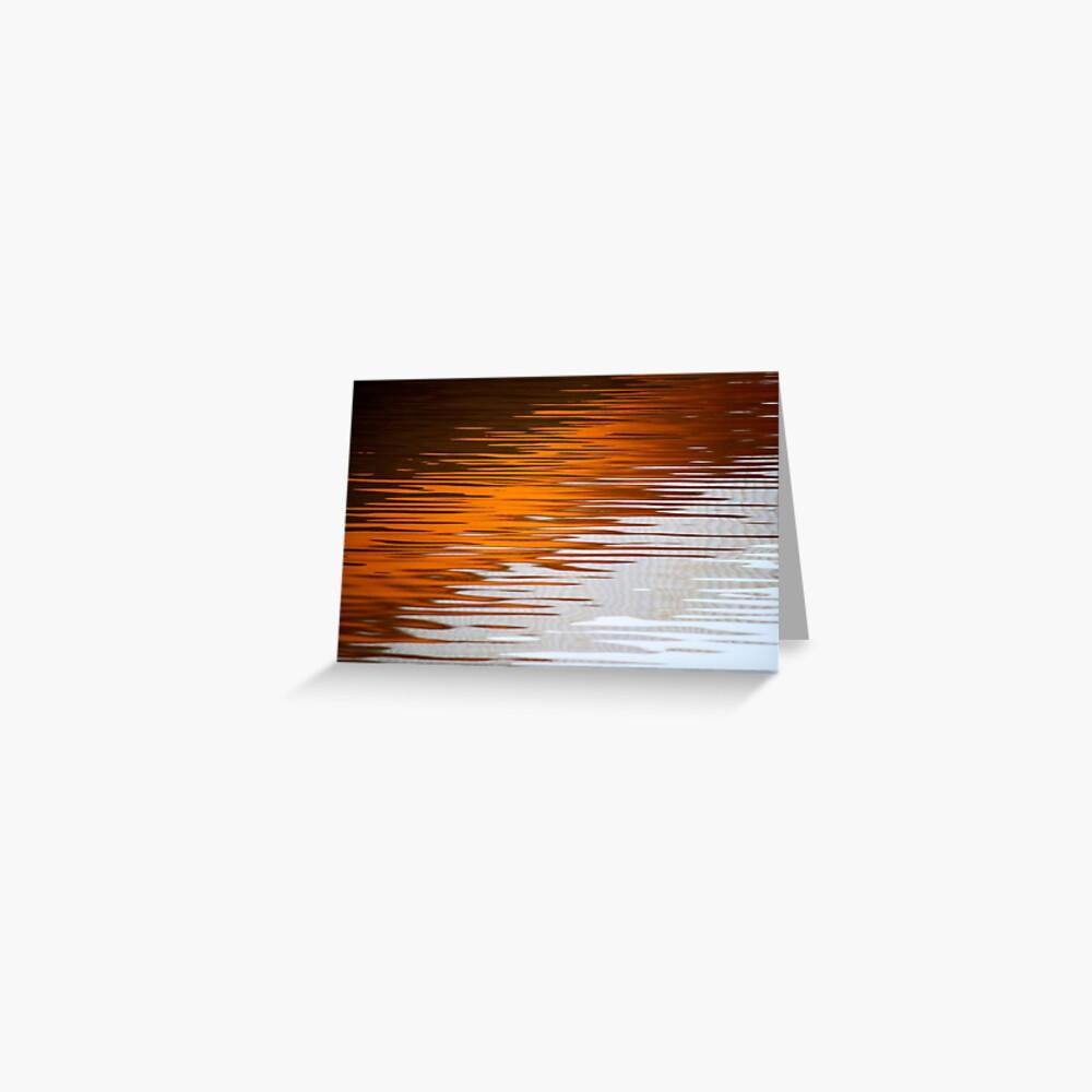 Orange Water Greeting Card