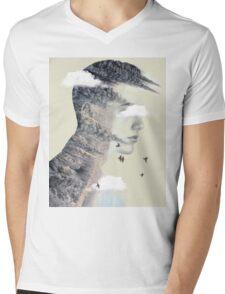 Nature Spike Mens V-Neck T-Shirt