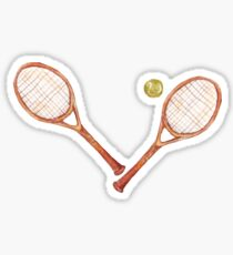 tennis racket with tennis ball Sticker